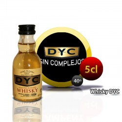 Botella miniatura whisky DYC