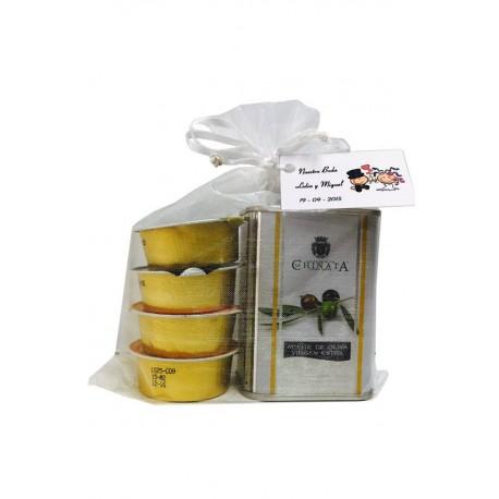 Lata de aceite de oliva virgen extra con iberitos