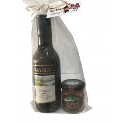 Pack vino Mayoral con tarrito de paté Deliex