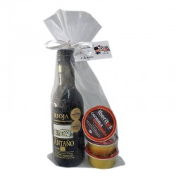 Combinación vino Antaño Rioja con tres Iberitos