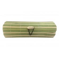 Baúl de madera mimbre beige-verde largo empresa