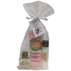 Detalle para empresas crema de manos Rosa de Mosqueta, crema corporal y colonia fresca
