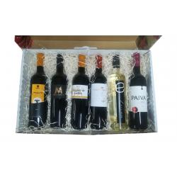 Cesta regalo empresa con 6 botellas de vino