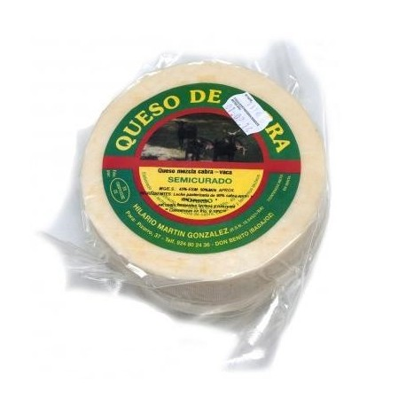 Queso de cabra-vaca blanco curado Hilario