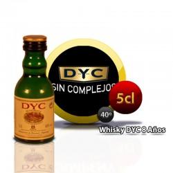 Botella miniatura whisky DYC 8 años