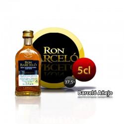 Botella miniatura ron Barcelo
