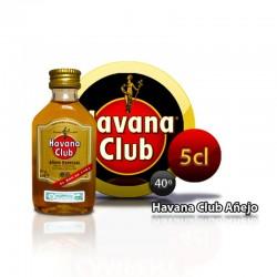 Botella miniatura ron Habana Club Añejo