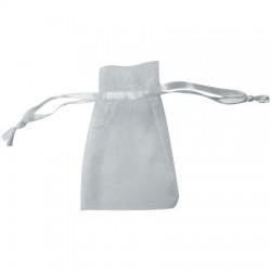 Bolsa de organza color blanco (13x27)