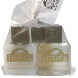 Crema bodymilk, sales de baño y colonia Deliex para regalar