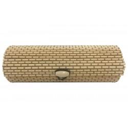 Baúl de madera mimbre alargado para regalar