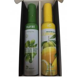 Estuche regalo con dos aceites iO D-Limonelo y Surat Virgen Extra