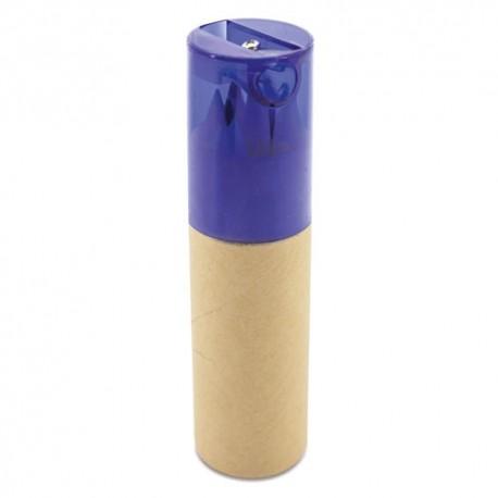 Estuche tubo con 6 lápices y sacapuntas