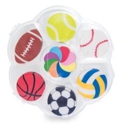 Gomas de borrar deportivas en cajita para regalar