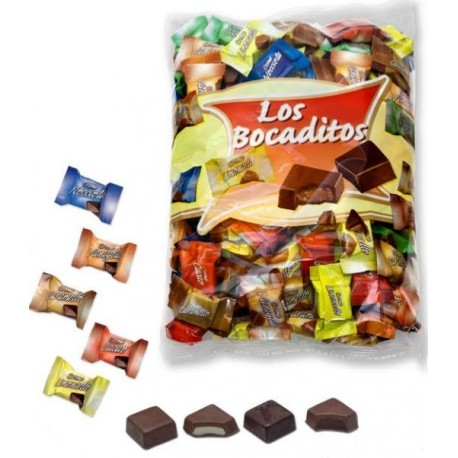 Bolsa 1 kg con bombones de chocolate rellenos