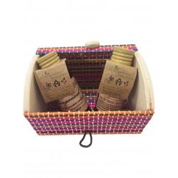 Gel y champú con baúl miniatura