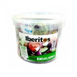 Cubo 30 monodosis: Vinagre - Aceite Virgen Extra - Sal, Iberitos