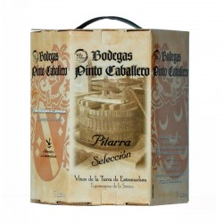 Vino de pitarra tinto 5 litros procedente de Extremadura. Envase bag in box.
