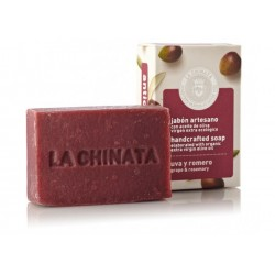 Pastilla de Jabón Artesano Antioxidante con Aceite de Oliva 'Uva Romero' de La Chinata