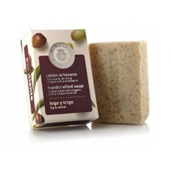 Pastilla de Jabón natural Exfoliante con Aceite de Oliva Ecológico 'Higo Trigo' de La Chinata