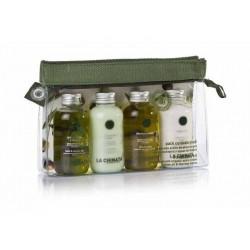 Pack cuidado de la piel con bolsa de viaje de La Chinata